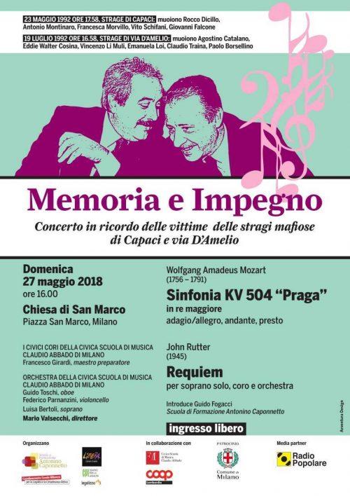 Memoria E Impegno 27 Maggio 2018