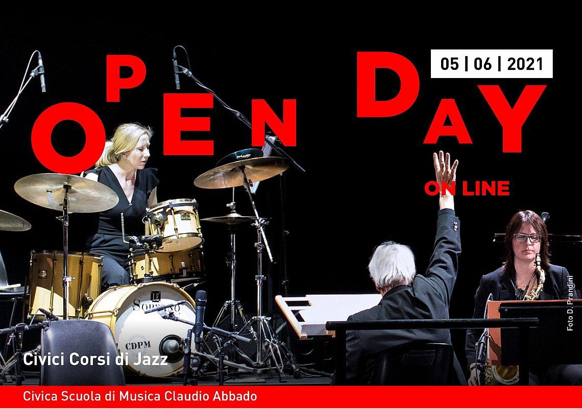 Open day 5 giugno Civici Corsi di Jazz banner