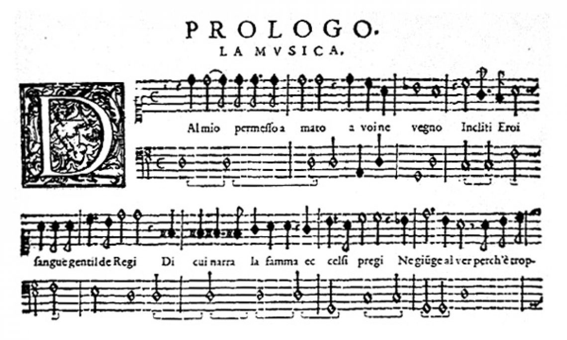 Orfeo Libretto Prologue