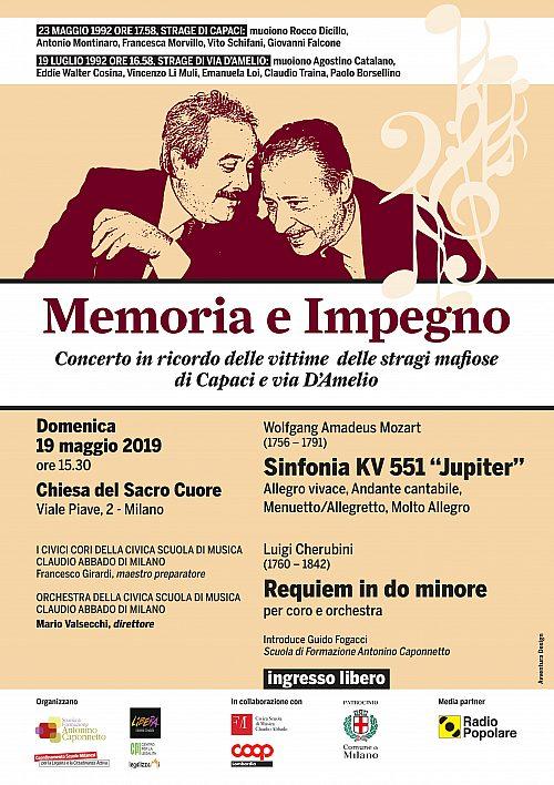 Memoria E Impegno 19 Maggio 2019 S  Cuore